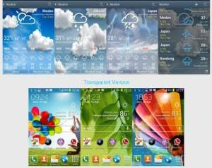 Galaxy S4 Launcher And Weather Supports All Android Devices