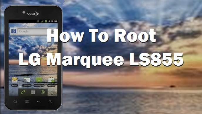 Root LG Marquee LS855 Without PC