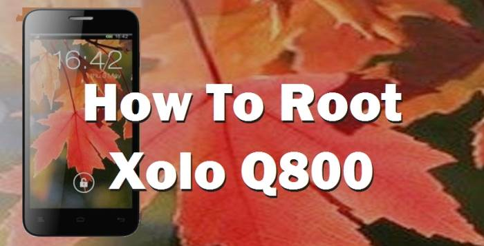 How To Root Xolo Q800 Without PC