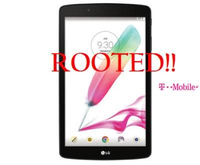 Rooted LG G Pad F 8.0 (v496)