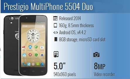 root Prestigio MultiPhone 5504 Duo