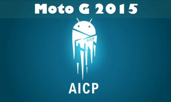 Moto G 2015 (OSPREY) With AICP ROM 12.1 Official Based On Android Nougat 7.1.1 3
