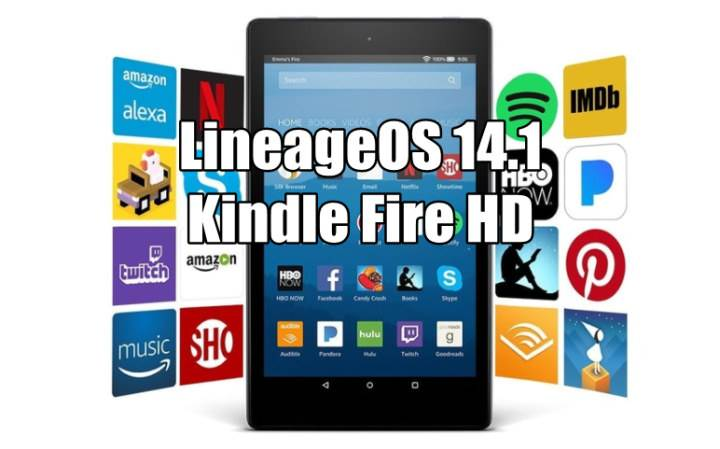 Install LineageOS 14.1 Android 7.1.2 Nougat ROM On Kindle Fire HD 7 (tate)