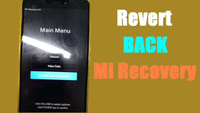 Download Stock Mi Recovery Xiaomi Redmi 5 Plus (Vince) 1