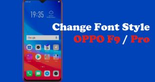 How To Change Font Style in Oppo F9 / Pro 1