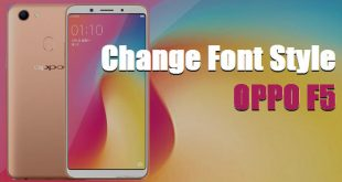 How To Change Font Style In Oppo F5 / Plus / Youth 4
