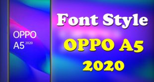 Font Style OPPO A5 2020